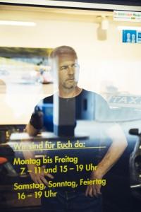 Portrait Toni Thiele, Geschaeftsfuehrer der OCCAM Taxi GmbH in Muenchen © 2015 Thomas Dashuber / Agentur Focus.